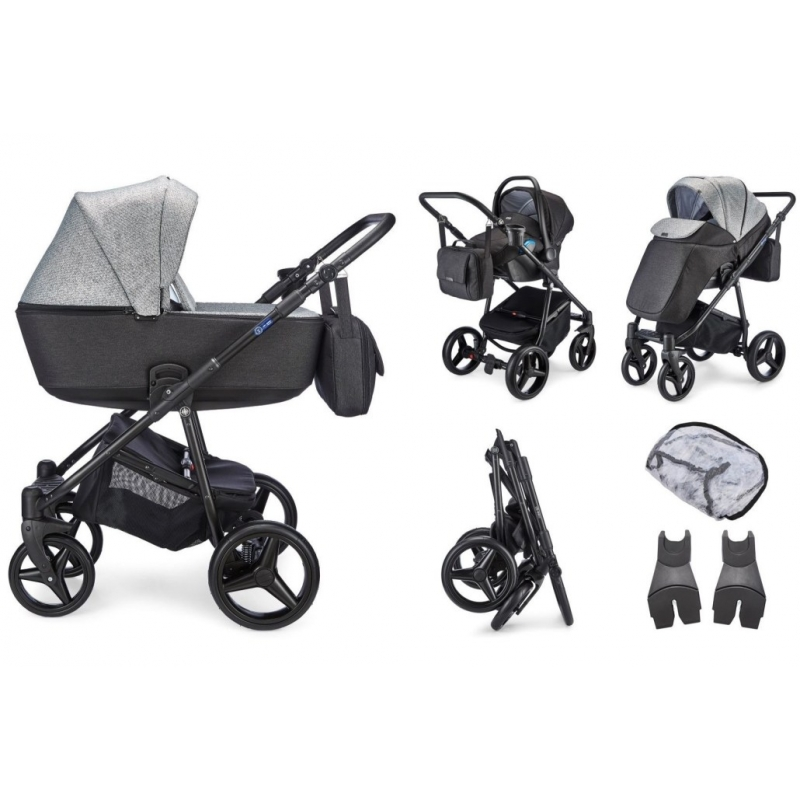 Mee-go Santino Travel System-Pepper Grey (2021) + Free Changing Bag Worth £80!