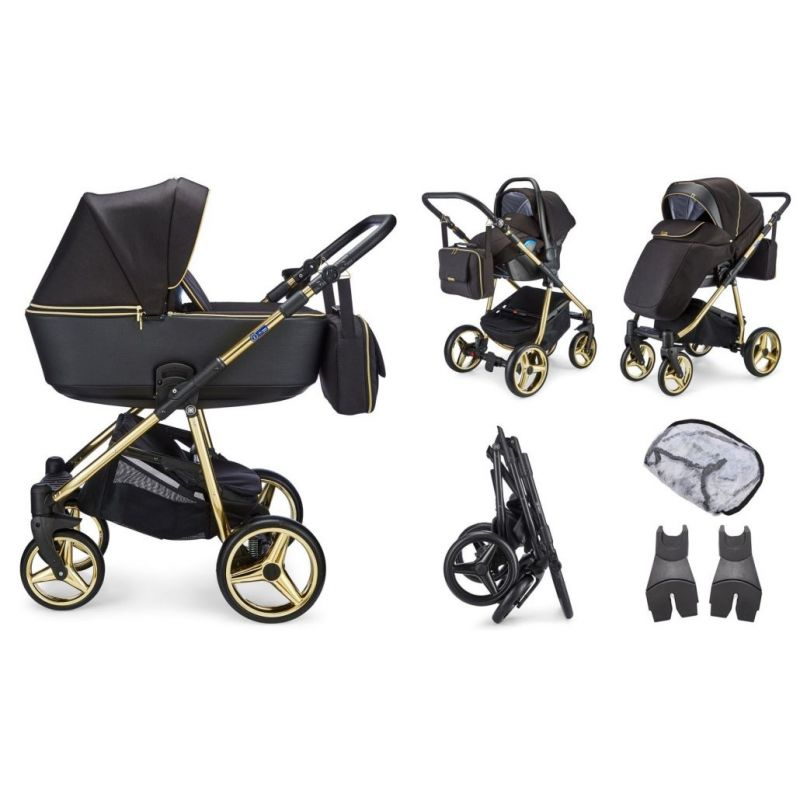 Mee-go Santino Special Edition Travel System-Gold Leaf (2021) + Free Changing Bag Worth £80!