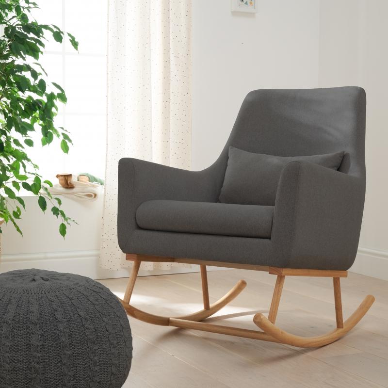 Tutti Bambini Oscar Rocking Chair-Charcoal/Grey