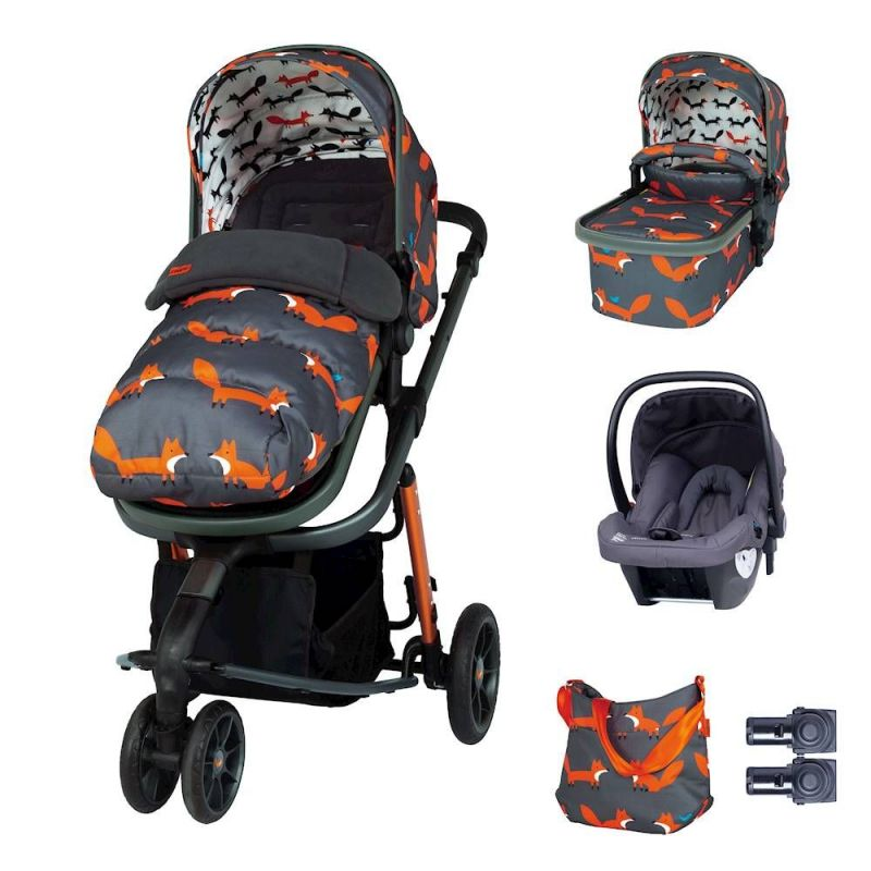 Cosatto Giggle 3 Marvellous Bundle-Charcoal Mister Fox