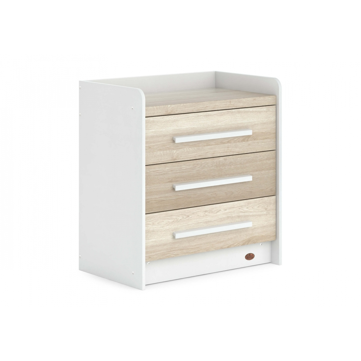 Boori Neat 3 Drawer Chest-White & Oak (2021)
