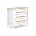 Boori Linear 3 Drawer Chest-White & Almond (2021)