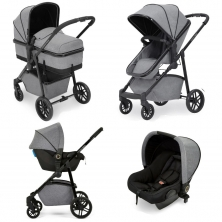 Ickle bubba Moon All-in-One Travel System with Astral Car Seat-Space Grey