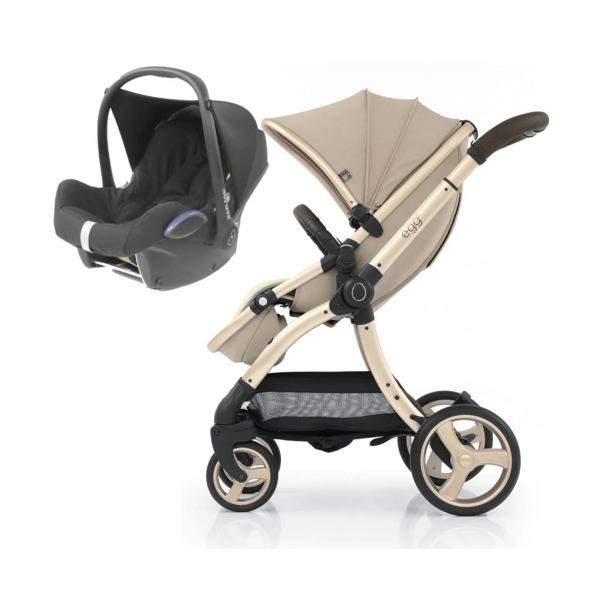 egg® 2 2in1 Cabriofix Travel System-Feather (NEW)