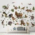 Walltastic Room Décor Kit-Dinosaur Land (NEW)