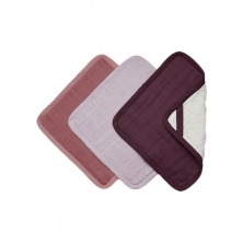 Fabelab 3 Pack Washcloths-Berry (NEW)
