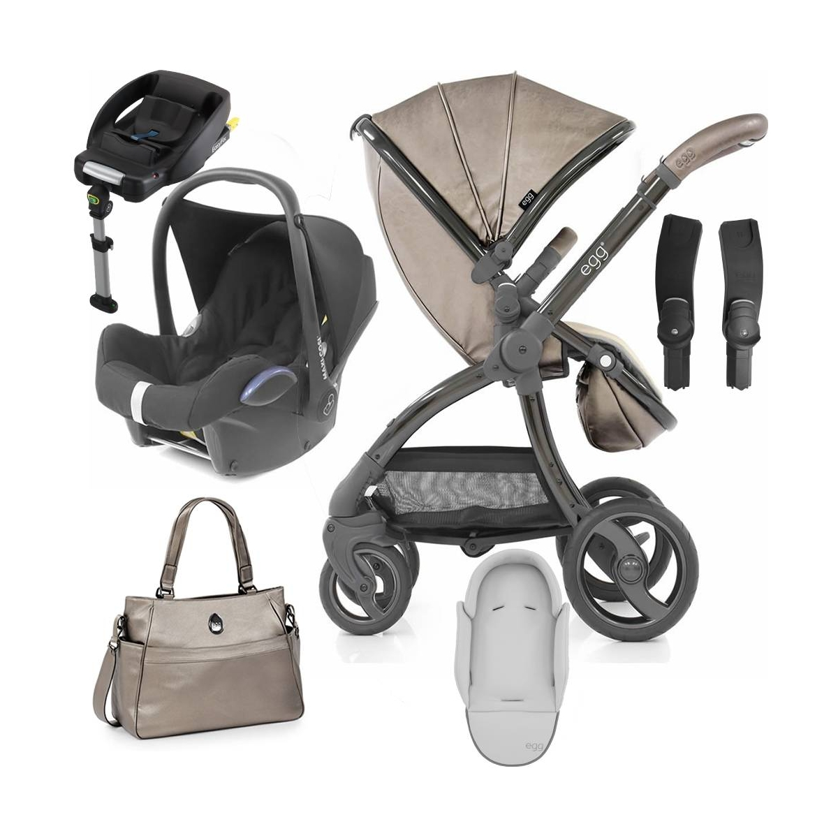 Egg� Special Edition 2in1 Cabriofix Travel System With Changing Bag & Seat Liner Titanium