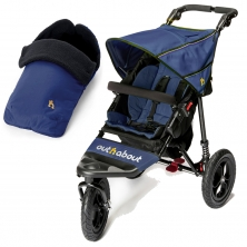 Out n About Nipper Single 360 V4 2in1 Footmuff Bundle-Royal Navy