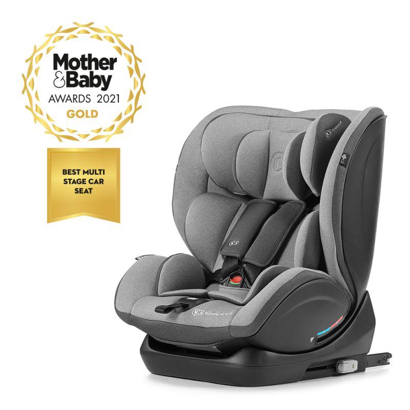 Kinderkraft MyWay Group 0/1/2/3 Car Seat with ISOFIX Base-Grey