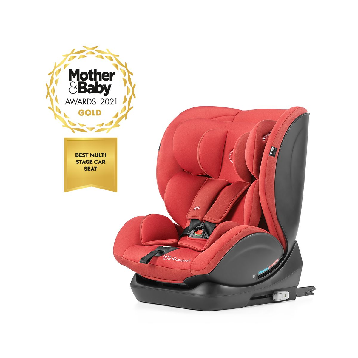 Kinderkraft MyWay Group 0/1/2/3 Car Seat with ISOFIX Base-Red