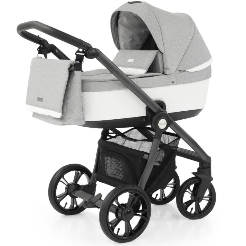 BabyStyle Prestige 2in1 Pram System Grey Frame/Black-Frost