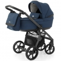 BabyStyle Prestige 3 2in1 Pram System Grey Frame/Black-French Navy