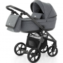 BabyStyle Prestige 3 2in1 Pram System Grey Frame/Black-Misty Grey