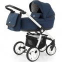 BabyStyle Prestige 3 2in1 Pram System White Frame/Black-French Navy