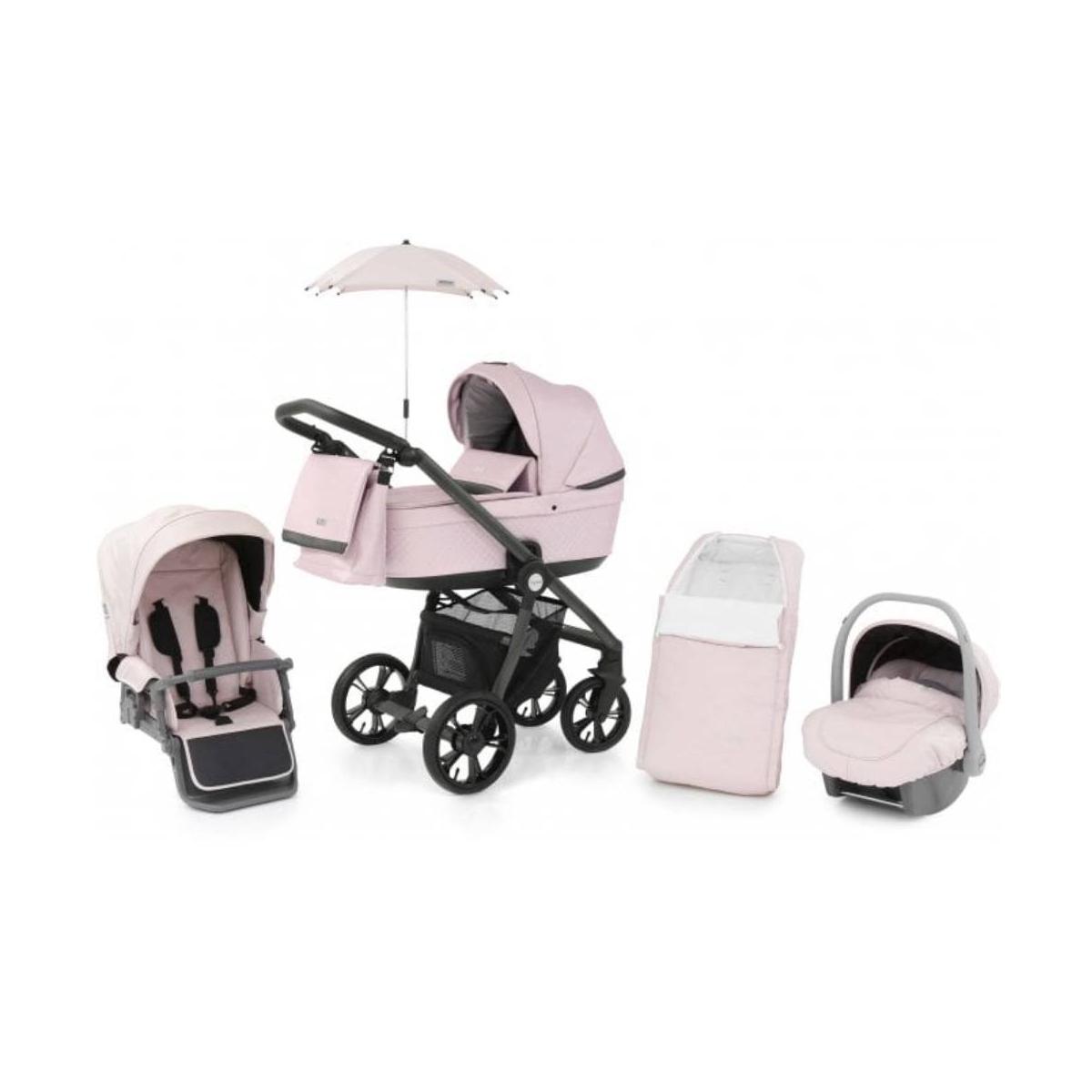 BabyStyle Prestige 3 3in1 Travel System Grey Frame/Black-Ballerina