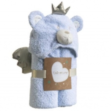 Clair De Lune Little Bear Hooded Blanket-Blue (NEW)
