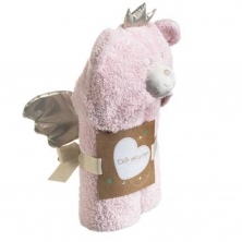 Clair De Lune Little Bear Hooded Blanket-Pink (NEW)