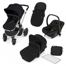 Ickle Bubba Stomp V2 Silver Frame 3in1 Travel System-Black