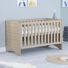 Babymore Veni Cot Bed-Oak