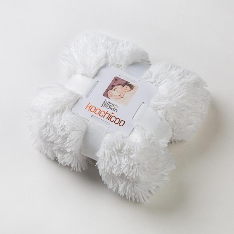Bizzi Growin Koochicoo Luxury Blanket-White