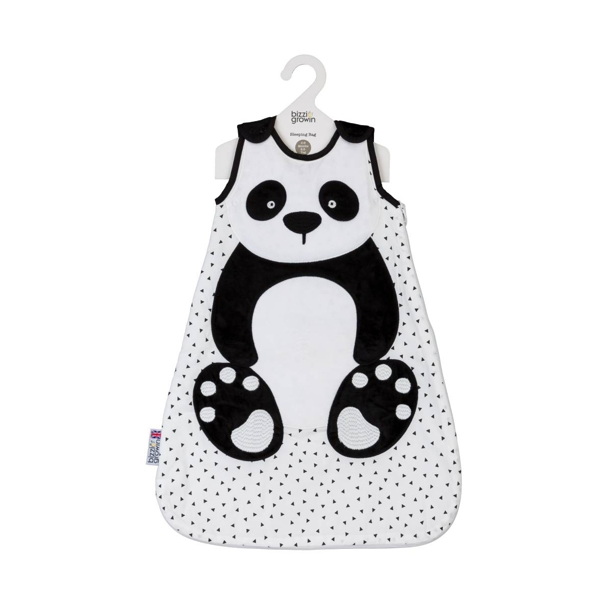 Bizzi Growin 2.5 Tog Sleeping Bag 6-18 Months-Panda (NEW)
