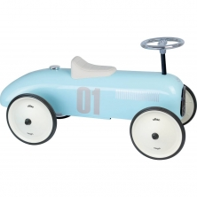 Vilac Classic Ride On Metal Car-Light Blue (NEW)