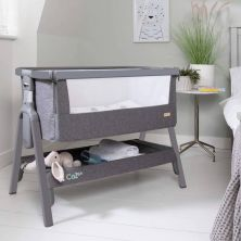 Tutti Bambini CoZee LITE Bedside Crib-Charcoal/Cool Grey