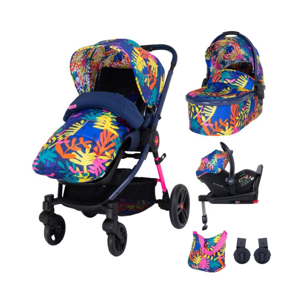 Cosatto Wowee Everything Travel System Bundle-Club Tropicana