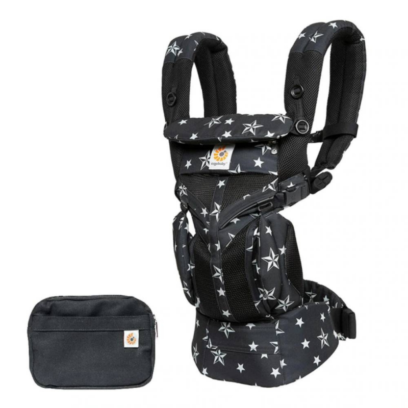 Ergobaby Omni 360 Cool Air Mesh Baby Carrier-Black Stars