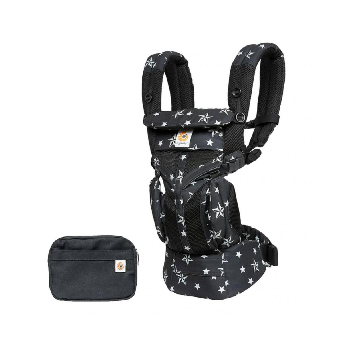 Ergobaby Omni 360 Cool Air Mesh Baby Carrier-Black Stars (2020)