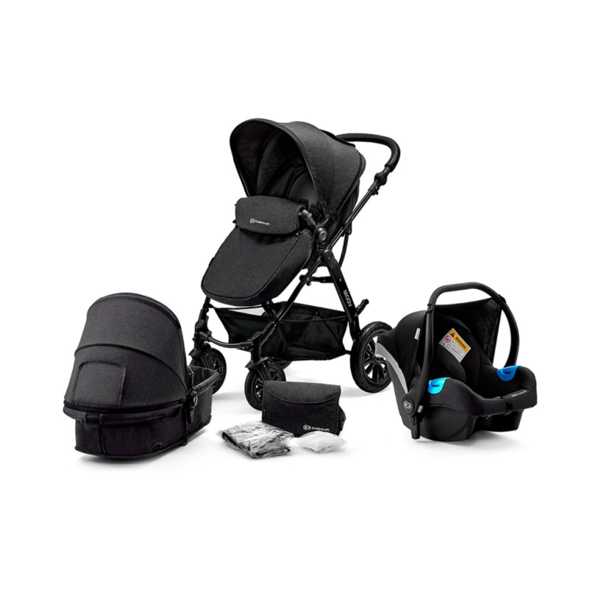 Kinderkraft Moov 3in1 Travel System-Black
