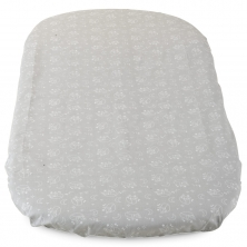 Chicco Pack Of 2 Cotton Baby Hug Fitted Sheets-Grey Fox