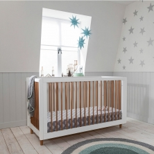 Tutti Bambini Siena 3-in-1 Cot Bed-White/Beech