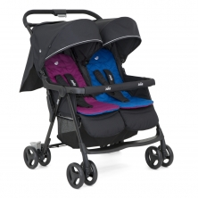 Joie Aire Twin Stroller-Rosy/Sea