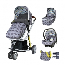 Cosatto Giggle 3 Travel System & Accessories Bundle-Seedling (EXCLUSIVE TO KIDDIES KINGDOM)