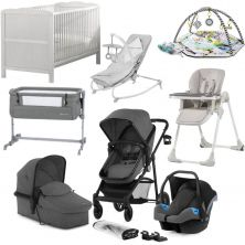 Kinderkraft Juli 10 Piece Complete Newborn Bundle-Grey