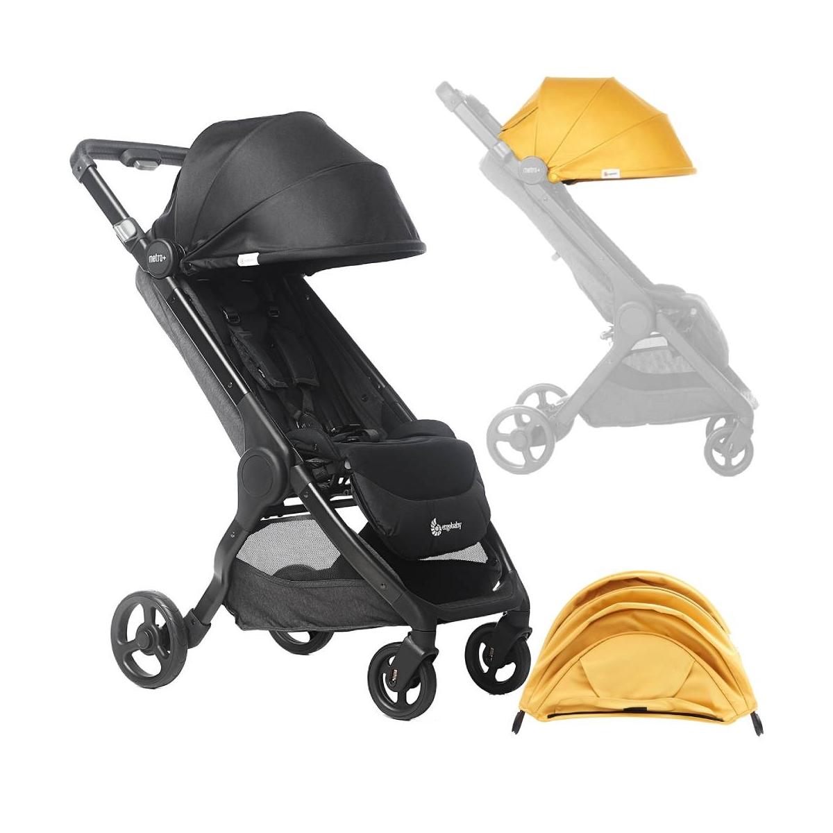 Ergobaby Metro+ Compact City Stroller-Black (2021)