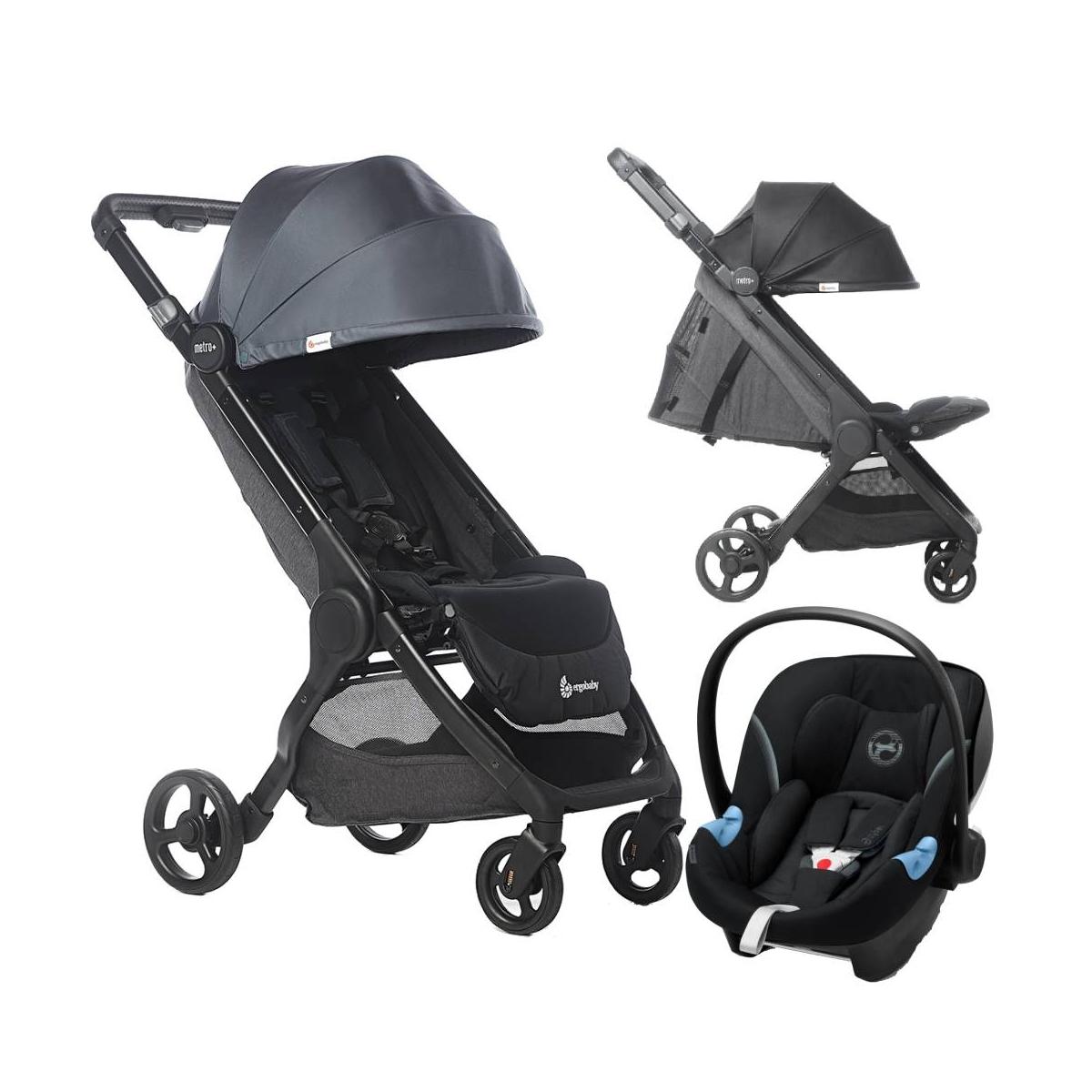 Ergobaby 3in1 Metro+ Compact City Stroller-Slate Grey (2021)