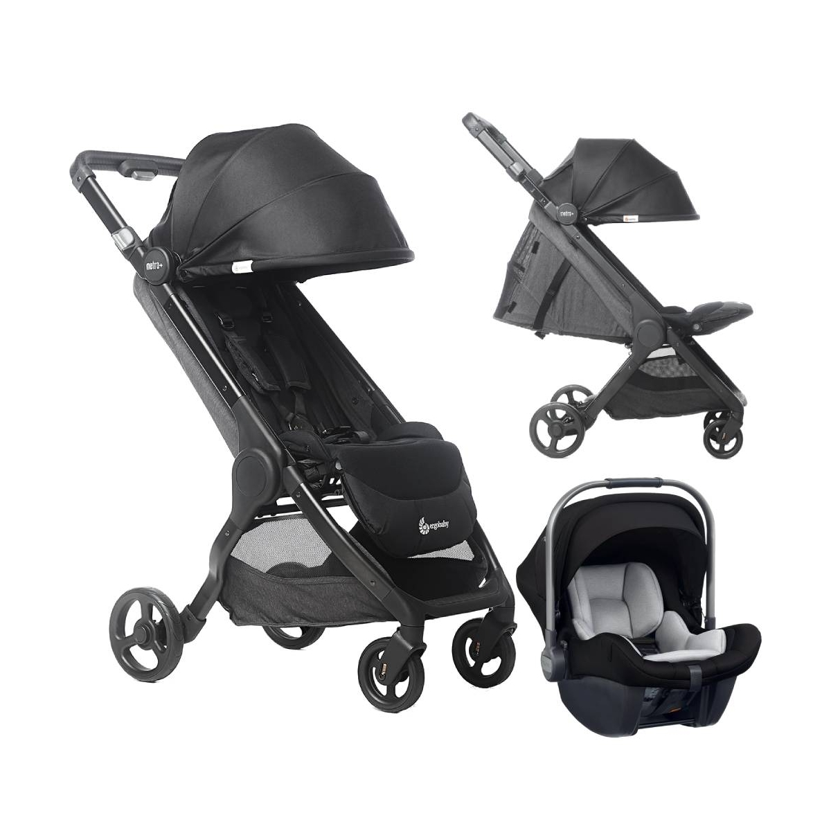 Ergobaby 3in1 Metro+ Compact City Travel System-Black (2021)