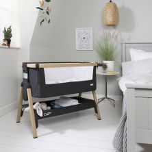 Tutti Bambini CoZee Bedside Crib-Oak/Liquorice