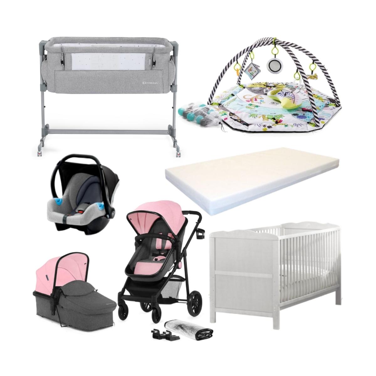 Kinderkraft Juli & Cot Bed Bundle-Pink