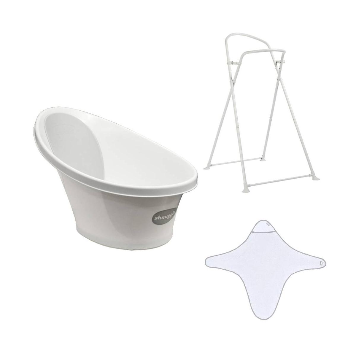 Shnuggle Bath Time Bundle- White and Grey (2021)