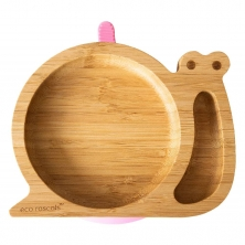 eco rascals Snail Shaped Bamboo Plate-Pink (2021)