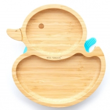 eco rascals Duck Shaped Bamboo Plate-Blue (2021)