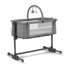 MiniUno Sleeptite PLUS Co-Sleeper Crib-Grey + FREE Mattress Fitted Sheet & Toybar!