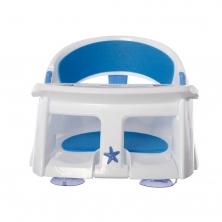 Dreambaby Deluxe Bath Seat with Foam Padding & Heat Sensing Indicator-Blue/White (2021)