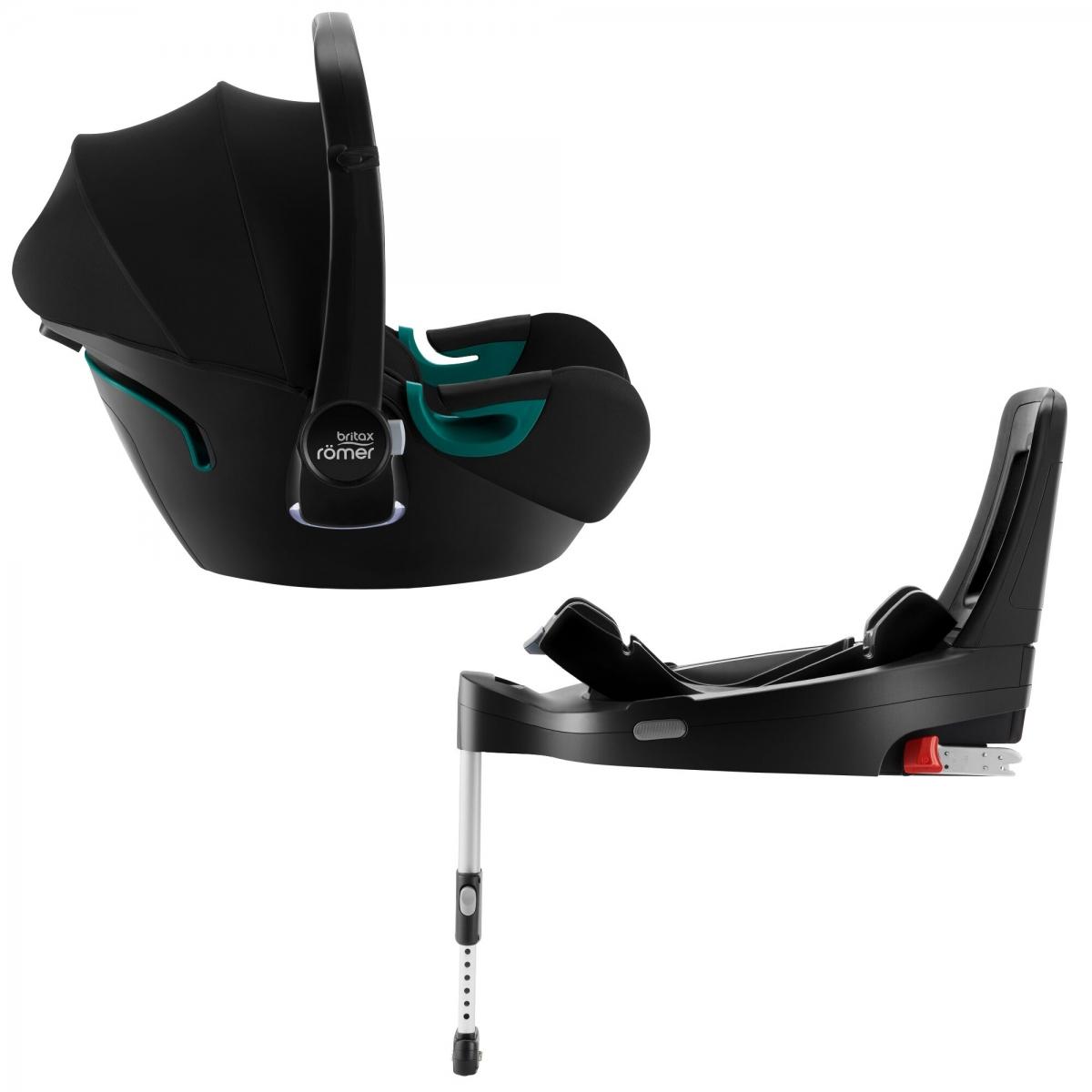 Britax BABY-SAFE iSENSE Group 0+ Car Seat + Base Bundle-Space Black (NEW 2021)