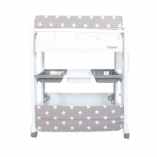 My Babiie Grey Stars Baby Bath And Changing Unit (MBCHGS)
