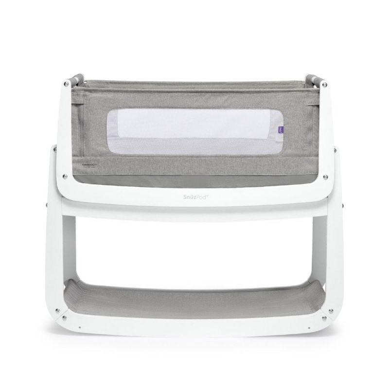 SnuzPod4 Bedside Crib with Mattress-Dusk Grey