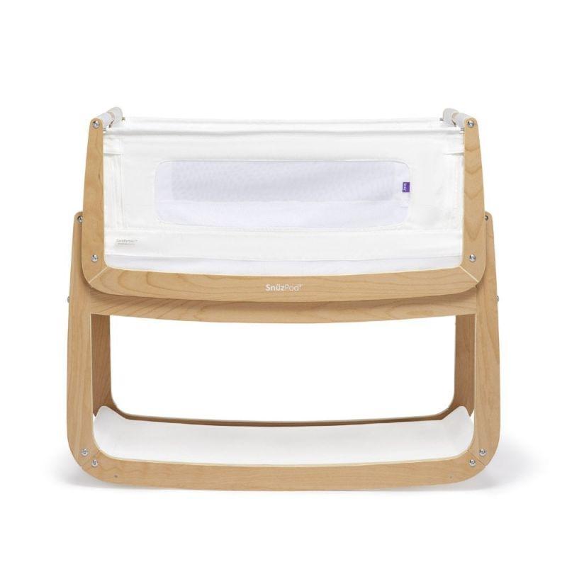 SnuzPod4 Bedside Crib with Mattress-Natural